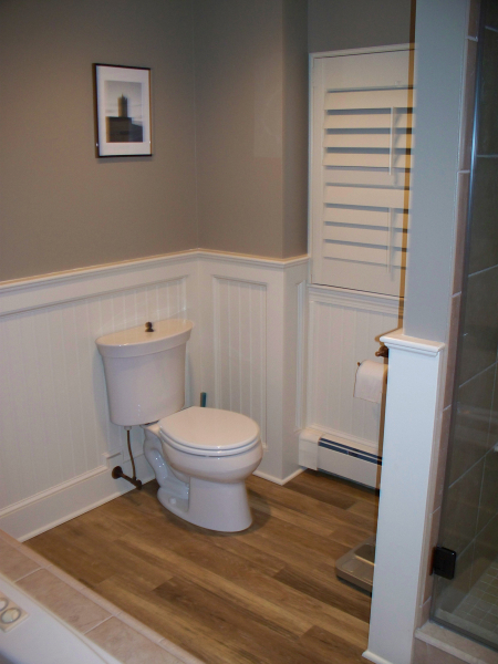 Classic New England Bath Featuring Two Person Shower Renovisions Inc