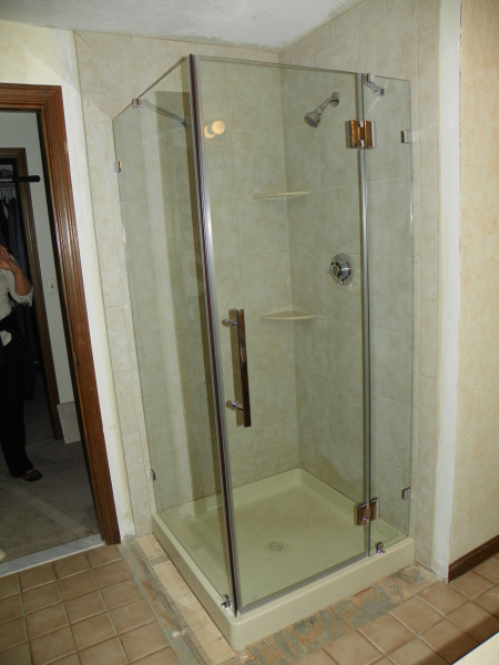 Outdated Fiberglass Shower Transformed To New Walk In