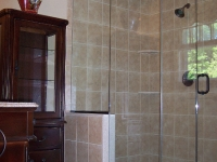Spacious Corner Walk-In Shower