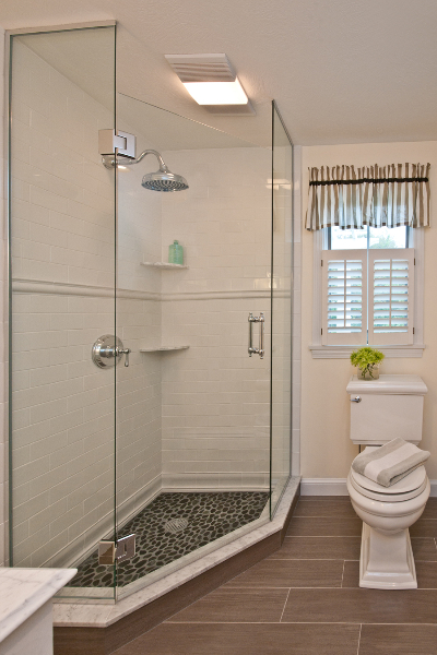 Classic New England Walk In Shower With Subway Tile Renovisions Inc