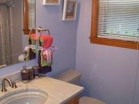 Bathroom Update with Carrera Marble Countertop