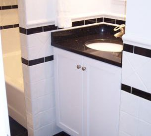 Black and White Works With Custom Marble Basket Weave Floor