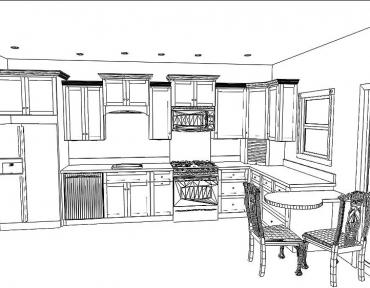 kitchen4-cad-drawing-black-white