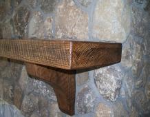 custom-built-oak-mantel