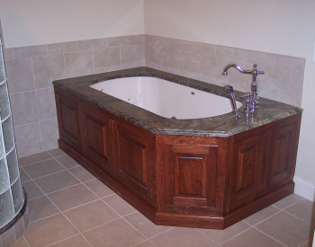 Sassy in Scituate with Glass Block Walk-in Shower