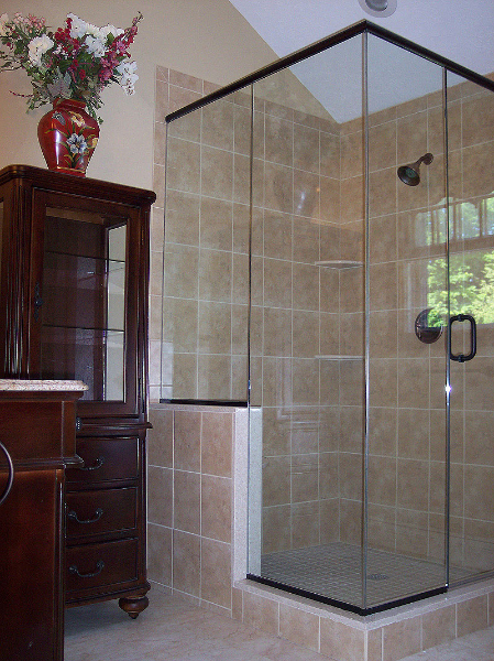 Spacious Corner Walk In Shower Renovisions Inc