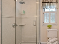 Walk-in Shower with Subway Tile